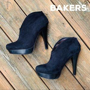 Bakers Black High Heel Platform Booties
